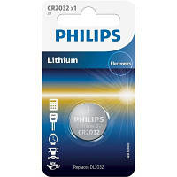 Батарейка PHILIPS CR2032 Lithium * 1 (CR2032/01B)