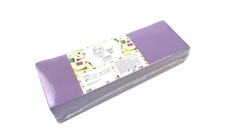 Полоски для депиляции Panni Mlada 7*22 (100 шт/уп.)  спанбонд 80гр/м2 , лиловые