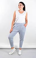 Янина. Спортивные штаны больших размеров.Серый, фото 1