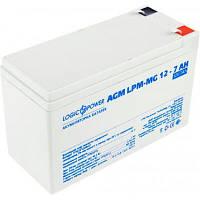 Батарея к ИБП LogicPower LPM MG 12В 7Ач (6552), фото 1