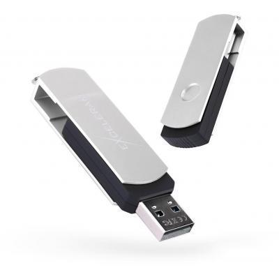 USB флеш накопитель eXceleram 64GB P2 Series Silver/Black USB 2.0 (EXP2U2SIB64)