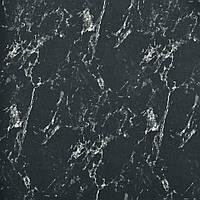 ✁ Отрез хлопковой ткани Мрамор черный/графитовый 100х80 см