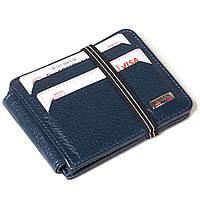 Кошелек-кредитница Butun 121-004-034 кожаный синий, фото 1