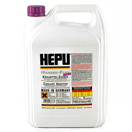 Антифриз HEPU G12, G12+ фиолетовый 5л P999-G12PLUS (Германия) концентрат 1:1, фото 2