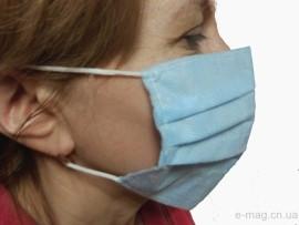 Маска для защиты лица на резинке спанбонд
