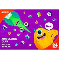 K20-089 Пластилин восковой KITE 2020 Jolliers 089, 24 цвета, 480 г
