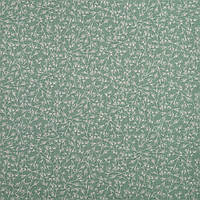 ✁ Отрез хлопковой ткани Веточки мятная 100х80 см
