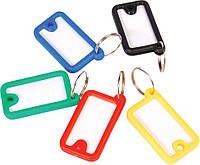 Брелок пластиковый для ключей 45x26 мм Economix E41645 ассорти