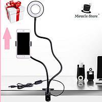 Кольцевая лампа с держателем и подсветкой Professional Live Stream