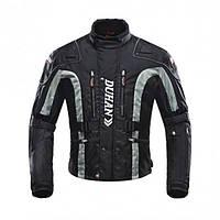 Мотокуртка эндуро текстильная Duhan D-023 черно-серая, размер  2XL, фото 1