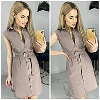 Платье-рубашка однотонное женское МОККО (ПОШТУЧНО)