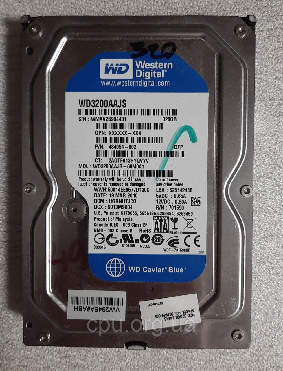 Жесткий диск HDD 3.5 320GB WD WD3200AAJS 8M 7200 об/мин