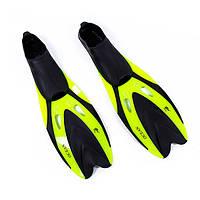 Ласты для плавания детские Dolvor (галоша) желтые F65JR