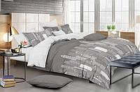 Двуспальный комплект постельного белья евро 200*220 сатин (14663) TM КРИСПОЛ Украина