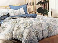 Двуспальный комплект постельного белья евро 200*220 сатин (14668) TM КРИСПОЛ Украина