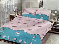Двуспальный комплект постельного белья евро 200*220 хлопок  (14717) TM KRISPOL Украина