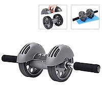 Тренажер Колесо Двойного Действия с Ковриком Power Stretch Roller, фото 1