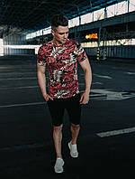 Мужской спортивный комплект на лето (футболка+шорты) 6 цветов