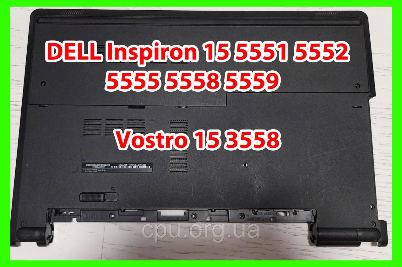 Нижняя часть с крышкой DELL Inspiron 15 5551 5552 5555 5558 5559 Vostro 15 3558 PTM4C 0PTM4C 0X3FNF
