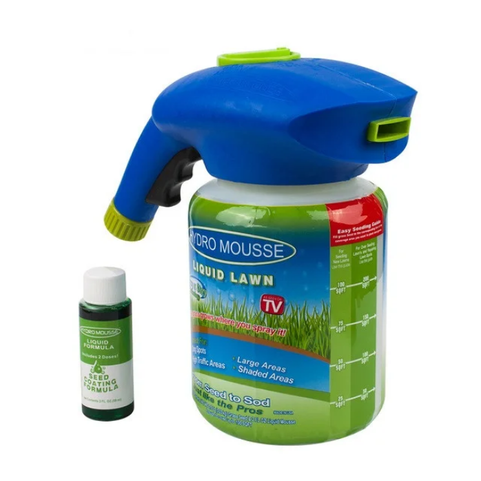 Жидкий газон распылитель Hydro Mousse с жидкостью