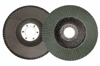Круг лепестковый торцевой циркониевый КЛТ Т27, 125х22 мм, P60 (зел.)