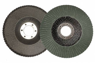 Круг лепестковый торцевой циркониевый КЛТ Т27, 125х22 мм, P80 (зел.)