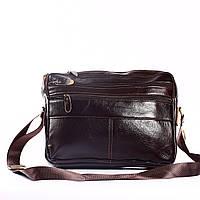 """Компактный мужской портфель коричневый """"Сидней Brown"""""""