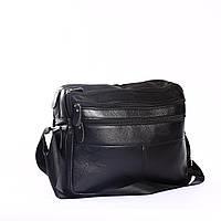 """Компактный мужской портфель черный """"Сидней Black"""""""