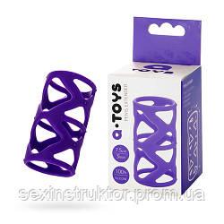 Насадка на пенис - A-TOYS 768004 Penis Sleeve Purple