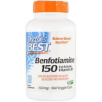 Бенфотиамин, Benfotiamine 150, Doctor's Best, 150 мг, 120 капсул