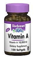 Витамин А 10000, Bluebonnet Nutrition, 100 желатиновых капсул