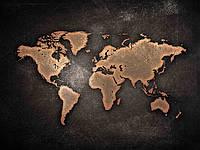 Интерьерная карта под металл