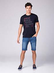 Мужская хлопковая футболка с надписями T-SPEC