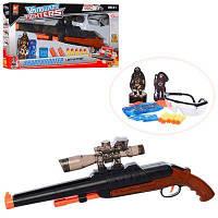 Рушницю H9911 57см,водяні кулі,тверд.кулі-присоски5шт,окуляри,в кор-ке 60,5-30-7см