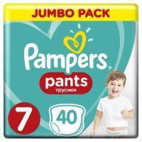 Подгузник Pampers трусики Pants Размер 7 (17+ кг), 40 шт (8001841133737)