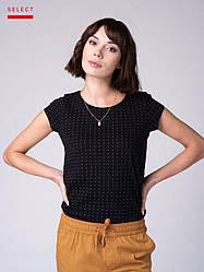 T-ALMA хлопковая женская футболка в горошек