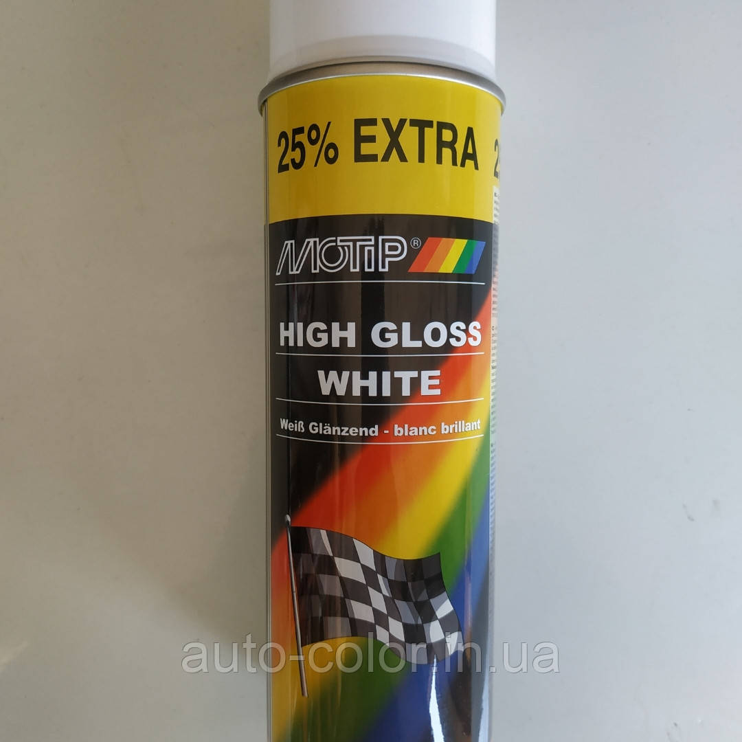 MOTIP  Краска белая глянцевая, универсальная  500мл