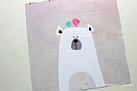 Панелька сатин Медведь+птички 40*40
