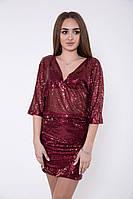 Платье женское 115R166 цвет Бордовый