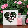 """Набор для свадебной песочной церемонии: Рамка """"Сердце с инициалами"""" + песок (цвет белый)"""