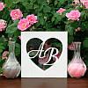 """Набор для свадебной песочной церемонии: Рамка """"Сердце с инициалами"""" (цвет белый)"""