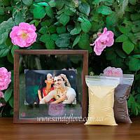 Набір для весільної пісочної церемонії: Рамка під фото + пісок, фото 1