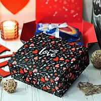 """Подарунковий набір """"Люблю до місяця"""" 2в1 150г  (Сувенірний шоколад і Чай)"""