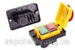 Кнопка для бетономішалки DZ-6-2 з рамкою і кришкою 88*56 5 контактів