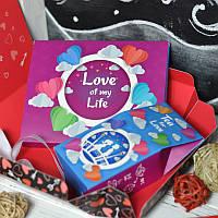 """Подарунковий набір """"Love of my life"""" 2в1 150г  (Сувенірний шоколад і Чай)"""