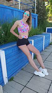 Шорты женские спортивные с принтом пирожных 42-48 р