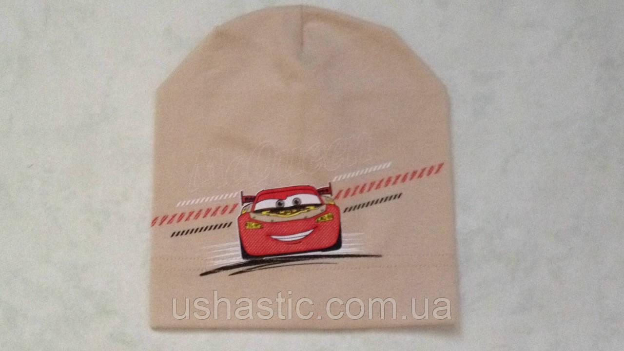 Трикотажная шапочка для мальчика на 3-5 лет (хлопок)