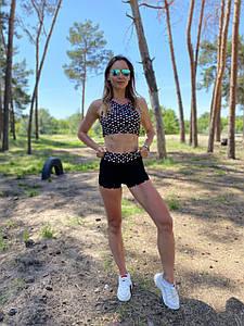 Шорты женские для занятий фитнесом принт пики 42-48 р