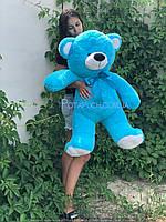 Большой плюшевый мишка Томми 100см голубой