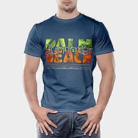 Мужская футболка, размер L, темно-серого цвета, бесшовная 100% хлопок